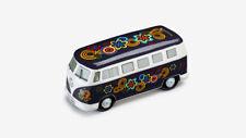 Original VW Bulli Spardose T1 Bus aus Keramik Flower Power Blau 211087709E