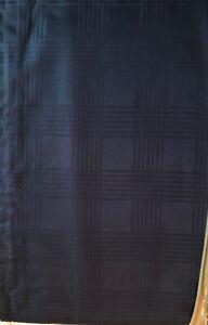 Ralph Lauren LS Glen Plaid Bedskirt King Navy Blue New Lauren Suite 100% Cotton