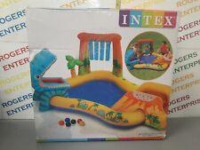 Intex Dinosaur Play Center Inflatable Pool Water Slide Splash Spray Garden Fun