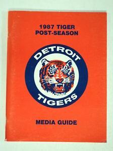 1987 Tigers Post-Season Media Guide Mint ALSC TWINS - FLASH SALE