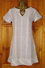 Monsoon Cotton Round Neck Striped Dresses for Women