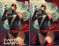 Captain Marvel 1 Marvel Stephanie Hans Trade Virgin Set 2 Variant