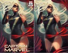 Captain Marvel 1 Marvel Stephanie Hans Trade Virgin Set 2 Variant