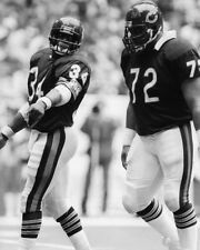 1985 Chicago Bears WALTER PAYTON & WILLIAM PERRY Glossy 8x10 Photo Print Poster