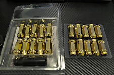 24k GOLD Chrome STEEL JDM LUG NUTS 12x1.5 civic crx eg ek dc2