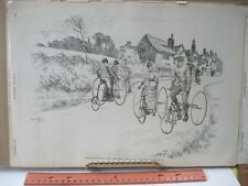Vintage Print,CYCLING IN ENGLAND,Ripley Road,Cycling,Harpers,Oct 1887