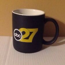 ABC 27 coffee Mug Tea Cup Ceramic Collectible Black American Broadcast Company