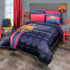 FCBARCELONA  ORIGINAL LICENSED COMFORTER WITH SHERPA 1PCS FULL SIZE