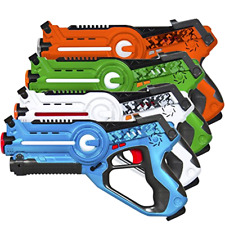 Best Choice Products Kids Laser Tag Set Gun Toy Blasters W/ Multiplayer Mode, 4
