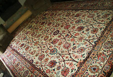 EXTRA LARGE Handknotted Persian WOOL Rug 12x8.3ft Handmade Floral Nouveau Keshan