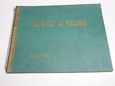 1939 HEWELT & WILSON CHICAGO Furniture Catalog Price List Sketch Drawings