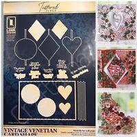 XL Tattered Lace 3 Swing Card Metal Dies and Rectangular Card Base Metal Die