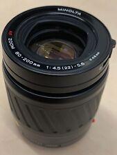 Minolta/Sony A 80-200mm f4.5-5.6 AF Zoom Macro Lens