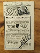 1925 CANADIAN AD CANADA TWIN CITY 12-20 TRACTOR