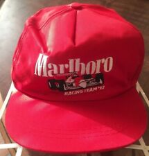Vintage Marlboro Racing Team '92  Indy Car Red Snapback Hat Cap Embroidered