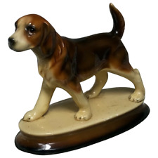 More details for fine 20th century hand painted small german glazed ceramic pointer dog ornament
