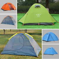 Outdoor Instant Pop Up Camping Dome Tent Hiking 2 Person Double Layer 4 Seasons