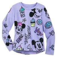 Disney Store Mickey & Minnie Mouse Treats T Shirt Girls Size 2/3 4 5/6 7/8 10/12