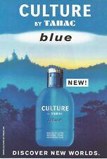 TABAC Culture Blue   - 1999 Perfume Print Ad