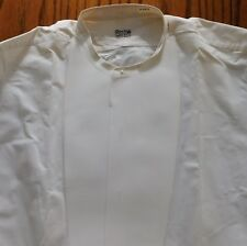 Vintage starched tunic shirt size 16 Rocola 1920s 1930s formal dress collarless