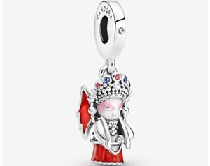 Luxury Peking Opera Doll Pendant 925 Sterling Silver Bracelet bangle bead charm