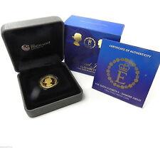 2012 QUEEN ELIZABETH II DIAMOND JUBILEE GOLD 1/4oz Proof Coin