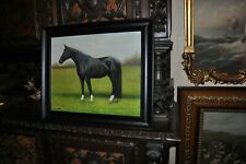 Lovely Vintage  Horse  oil Painting great artwork