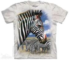The Mountain Unisex Adult Zebra Portrait Animal T Shirt Medium 1059651