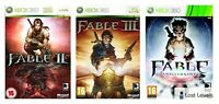 Xbox 360 - Fable 1, 2 or Anniversary - Choose Your Game - Boxed - VGC