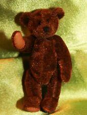 Handmade Artist Miniature Bear ~ Fully Articulated~ 3 inches tall~ Dark Brown