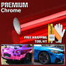 * Red Chrome Car Vinyl Wrap Sticker Decal Sheet Film Air Bubble Free 3 Layers