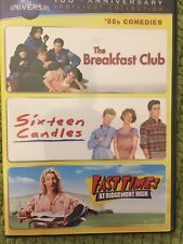 Breakfast Club- Sixteen Candles- Fast Times 3 disc set DVD