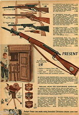 1958 ADVERT 4 PG Toy Gun Rifle Wells Fargo Mattel Winchester Daisy Super Scope