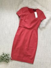 French Connection Coral Fitted Dress Size 10 S M Work Office Bodycon Knee Bnwt
