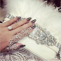 New Fashion Punk Double Full Finger Knuckle Armor Ring Rock Gothic Gold Silver