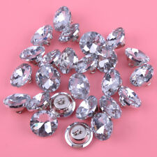 25pcs 20mm Diamante Crystal Upholstery Sofa Headboard Buttons Wall Decor