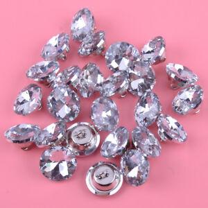25pcs 20mm Diamante Crystal Upholstery Sofa Headboard Buttons Wall Decor