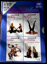 YOGA, GYM, FITNESS TRAINING - 4 DVD BOX SET - NEW & SEALED R4 Aust/0/PAL