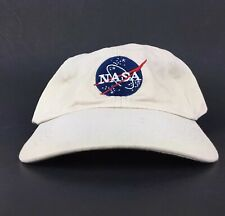 6cd7a57b8d7a2 NASA Embroidered Tan Baseball Cap Hat Adj. Men s Size Cotton - Faded Stained