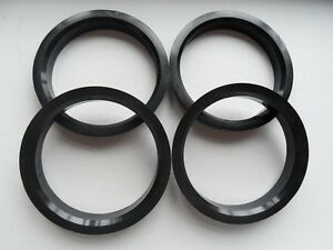 4 Polycarbon Plastics hub centric rings vehicle side 66.1mm to rims side 72.62mm