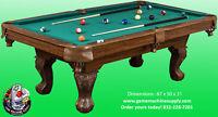 Billiard Pool Table with Felt Top