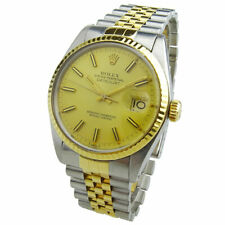ROLEX DATEJUST OYSTER PERPETUAL STEEL & GOLD WRISTWATCH 16013