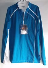 Salomon Pullover Jacket XL Blue Clima Wind Polyester Light Windbreaker Vented