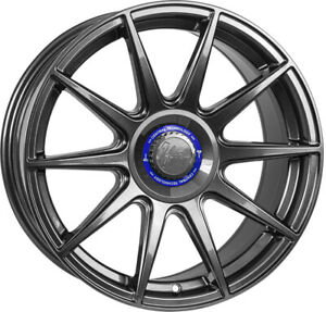 """Alloy Wheels 17"""" 1Form Edition 3 Plus Grey Gloss For Toyota Belta 06-14"""