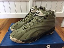 NEW Reebok Shaqnosis OG Cargo Green Black Khaki Men's Sneakers V61196 Size 13
