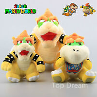 3X Super Mario Bros. Bowser King Koopa & Bowser JR Plush  Toy Soft Doll Teddy