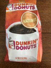 Dunkin' Donuts Hazelnut Flavored Ground Coffee 12 Ounce Pack 9/2020