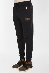 HUGO BOSS Jogging Bottoms (Black & Gold Detailing)
