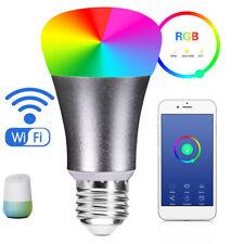 V2S 7W RGB Phone App Control LED Wifi Bluetooth Ball Bulb Light For Alexa Google