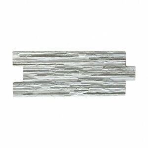 Rivestimento grès porcellanato 16 x 40 cm effetto pietra Grey Stone